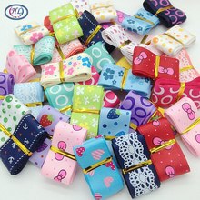 10 yards 1 width mix style printed grosgrain ribbon wedding party decoration crafts packing belt A346