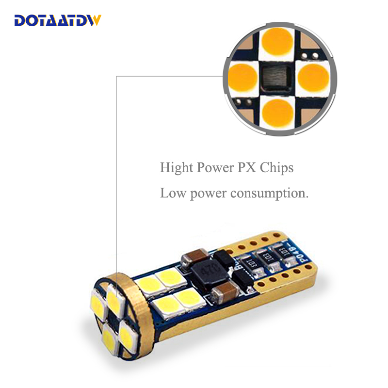 dotaatdw 10pcs t10 12smd led bulbs 194 168 3030 w5w canbus for car rh aliexpress com LED Map Lights for Cars Dome Light