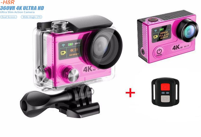 Action camera H8 / H8R VR360 ultra 4K / 30fps WiFi 2.0Dual LCD Remote Controller pro Helmet Cam go waterproof sport camera action camera eken h8 pro ultra hd 4k 30fps h8r 1080p 60fps original remote controller pro cam go waterproof sport camera dvr