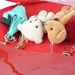 Image 5 - Bolsos de fresa Kawaii transparente Lolita Harajuku para mujer, bolsos de hombro para mujer, hermoso Color caramelo bolso Ita, regalo para chica dulce Itabag