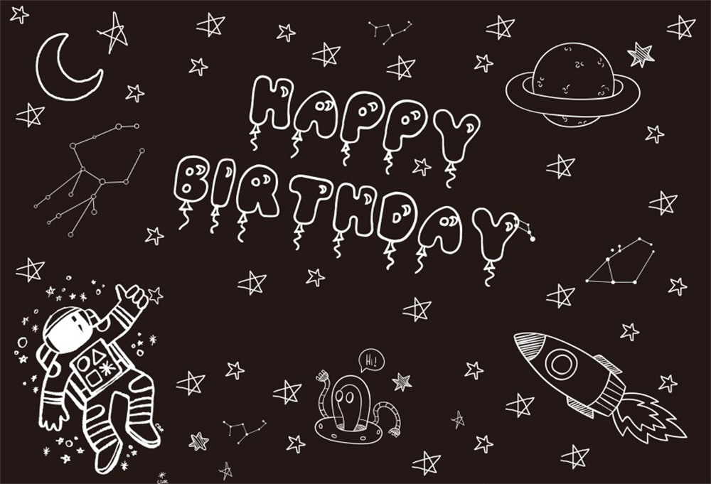 Laeacco Cartoon Blackboard Stars Moon Baby Birthday Photography Background Customized Photographic Backdrops For Photo Studio in Background from Consumer Electronics