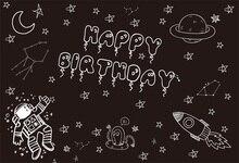 Laeacco Cartoon Blackboard Stars Moon Baby Birthday Photography Background Customized Photographic Backdrops For Photo Studio