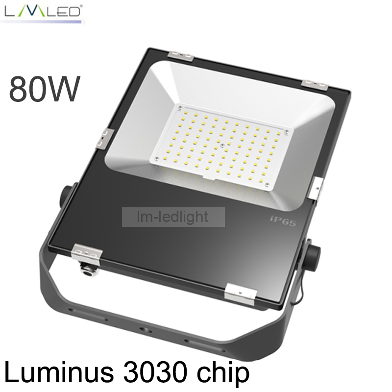 led 80W Flood Light SMD 8500LM AC85-265V LED Wall Lamp Industrial Lighting 5 Years Warranty kinfire circular 6w 420lm 6500k 30 x smd 3528 led white light ceiling lamp w driver ac 85 265v