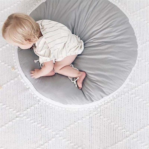 Image 3 - Bắc Âu Bé Tập Bò Thảm Cotton Dày Chéo In Chơi Lót Trẻ Em Thảm Chơi Vòng Trò Chơi Thảm Lều Chăn Trẻ Sơ Sinh Tầng thảm