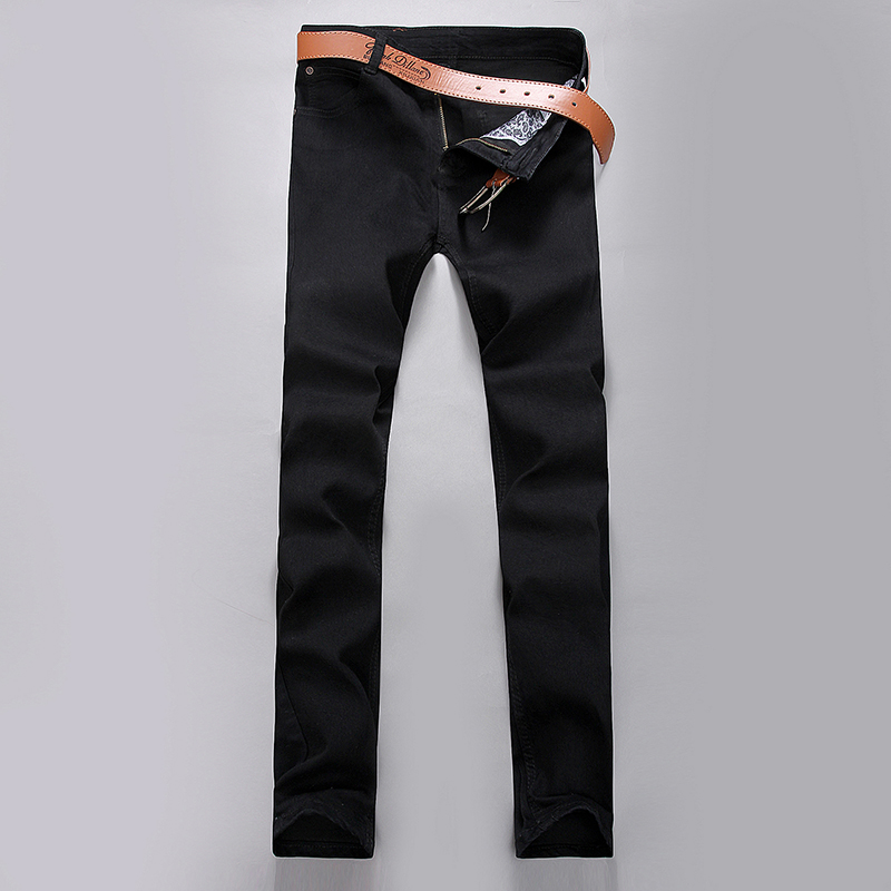 Slim fit The cowboy trousers leisure comfortable Pure color trousers  2