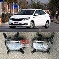 Hireno DRL Carro ABS À Prova D' Água 12 V Luzes Diurnas para KIA RIO K2 2014-16 Luz de Nevoeiro 2 PCS