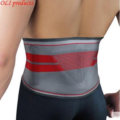 Exclusive design silica gel sports waist support belt lumbar back support fitness bodybuilding equipment free shipping