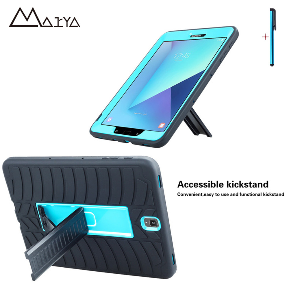 Case For Samsung Galaxy Tab S3 9.7 Three Layer Heavy Duty Armor Shockproof Silicon Hard Protective Shell For Tab S3 T820 T825 armor a80 компании silicon power в украине