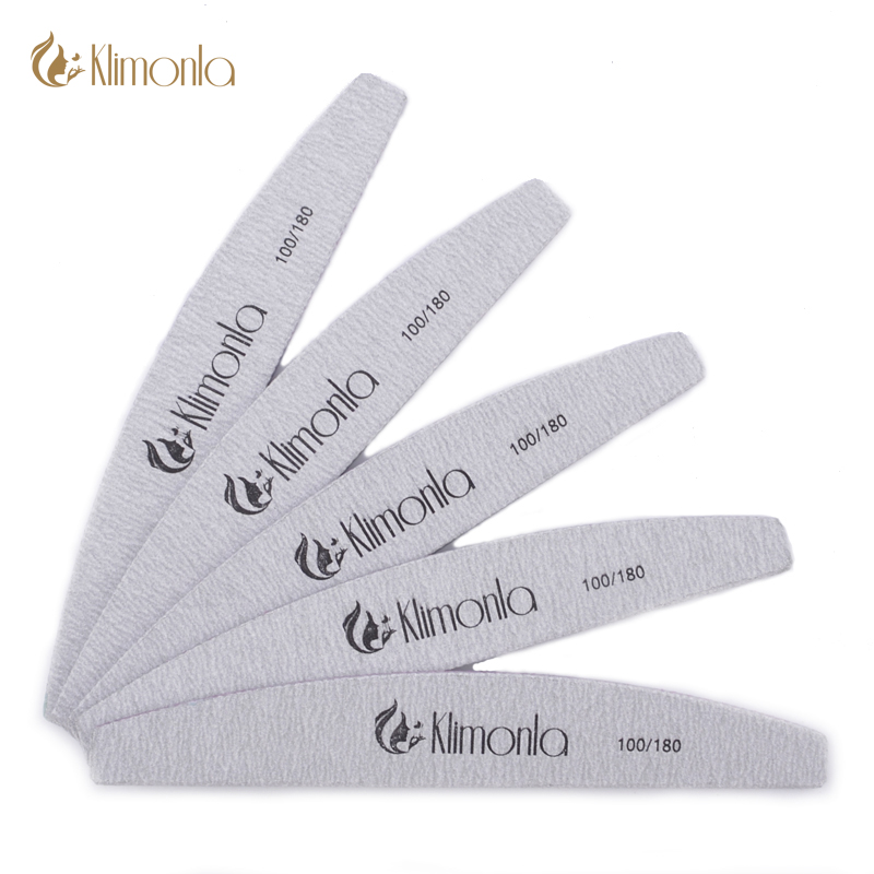 Klimonla Nail File 5Pcs Sanding Buffer Block 100/180 Sandpaper Pedicure Manicure Buffing Polish Beauty Tools Professional Files 5pcs lot 6400401 professional pedicure tools