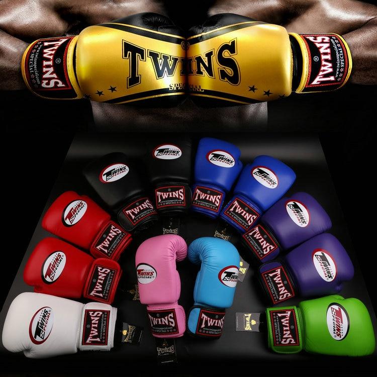 8oz-14oz Twins special boxing gloves/mittens thickened training Sanda/dozen sandbags glove punching gloves Fighting Boxeo Gloves все цены