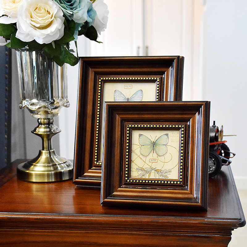 "Old Time Style Vintage Photo Frames For Table 4""7""10"" Environmental Picture Frames Home Decorations Quality Frames porta retrato"