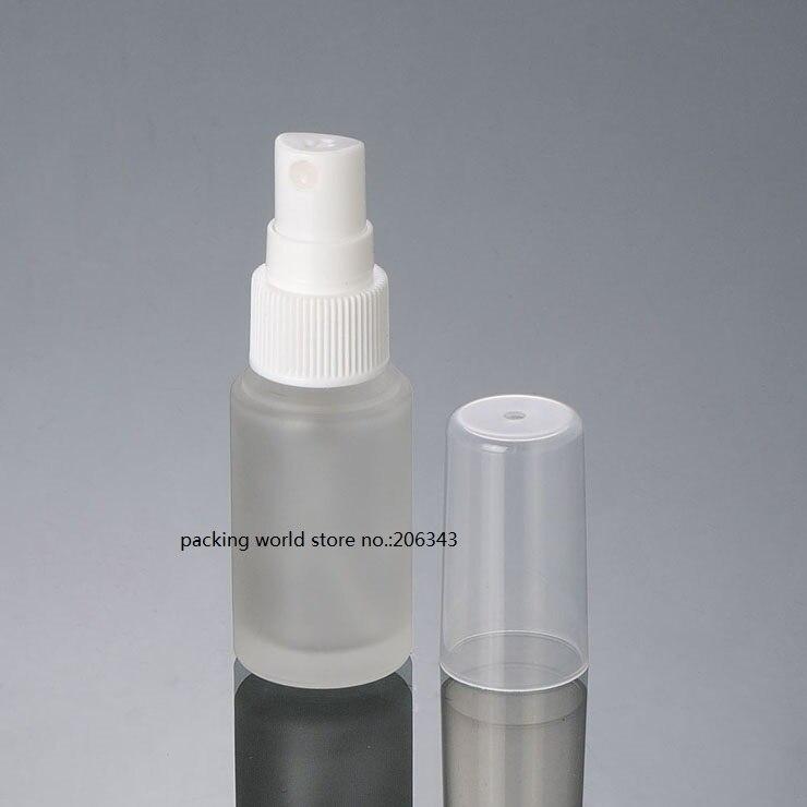 20 мл матовое стекло бутылка с белым/черным/прозрачный спрей насос для тонера/воды/тумана опрыскиватель/духи/туалет косметическая упаковка - Цвет: white mist sprayer