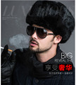Rusia Hombres de Piel Sintética de Invierno Lei Sombrero Feng Sombrero Caliente de Imitación de Piel de Conejo Sombrero Espesar