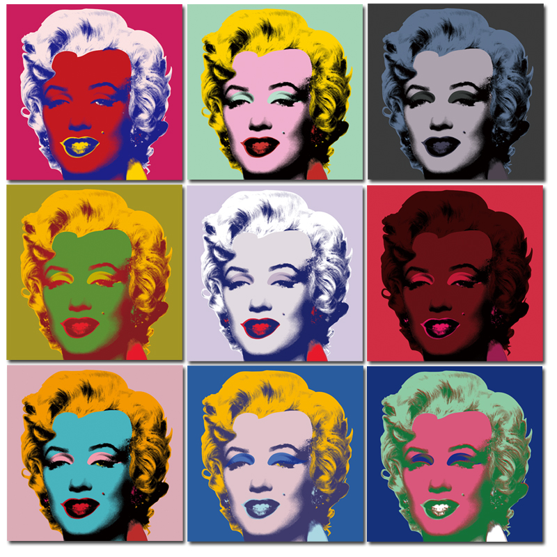 2017 andy warhol 10pcs marilyn monroe wall art oil painting prints painting on canvas no frame. Black Bedroom Furniture Sets. Home Design Ideas