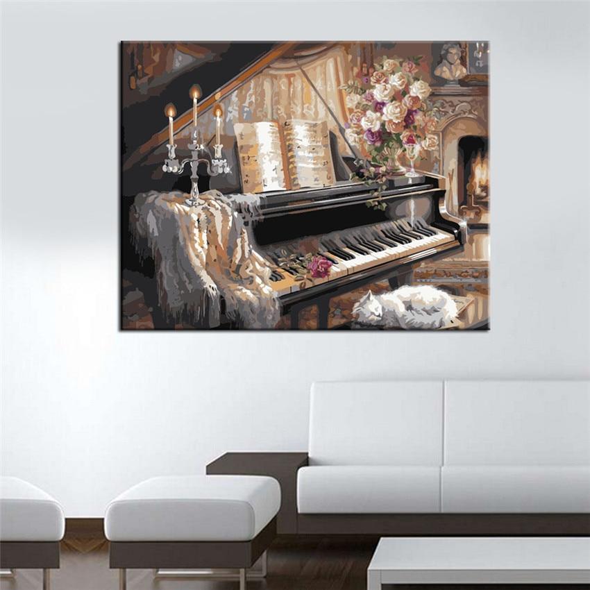 Πιάνου Ελαιογραφία με Αριθμούς DIY - Διακόσμηση σπιτιού - Φωτογραφία 3