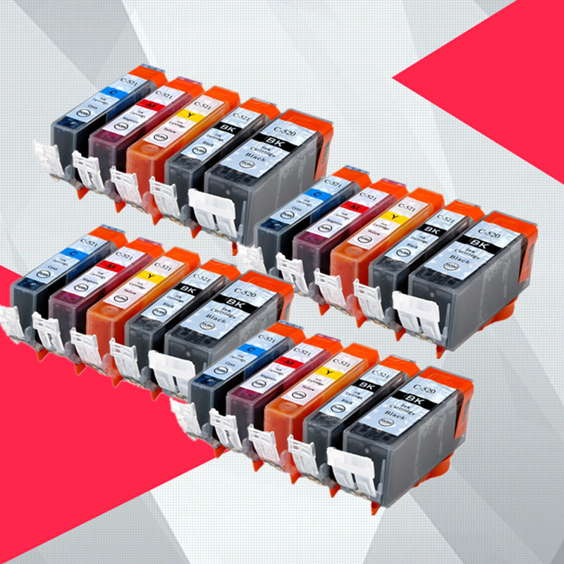 20PK Compatible for <font><b>Canon</b></font> 520 521 <font><b>Ink</b></font> <font><b>cartridge</b></font> for pgi520 cli521 pgi-520 PIXMA MP540 MP545 MP550 MP638 <font><b>MP630</b></font> MP640 MP990 MP996 image