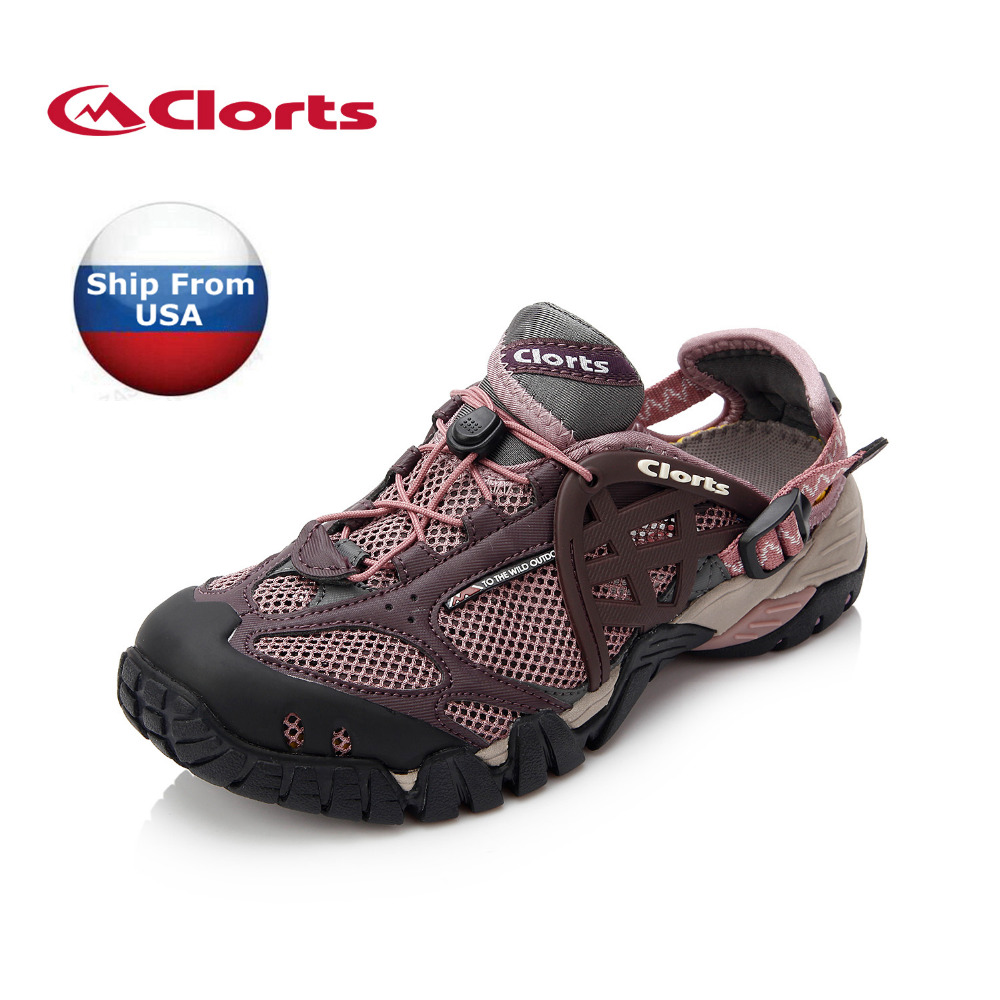 (Shipped From USA Warehouse)2018 Clorts Womens Aqua Shoes Quick-dry Lightweight Color Purple For Women WT-05A/D