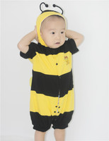 Bee Baby Boy Costume Halloween Costume For Kids 0 2Years Infant Baby Romper Toddler One Piece