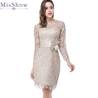 Elegant Short Mother Of The Bride Dresses 2018 Sheath Lace Dress For Wedding Guest Knee Length