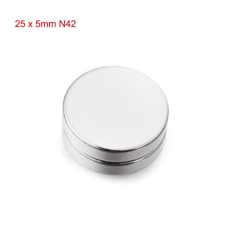 2 шт. 25x5 мм N42 круглый магнит Неодимовый игрушки мощный творческий для малыша взрослых DIY новый