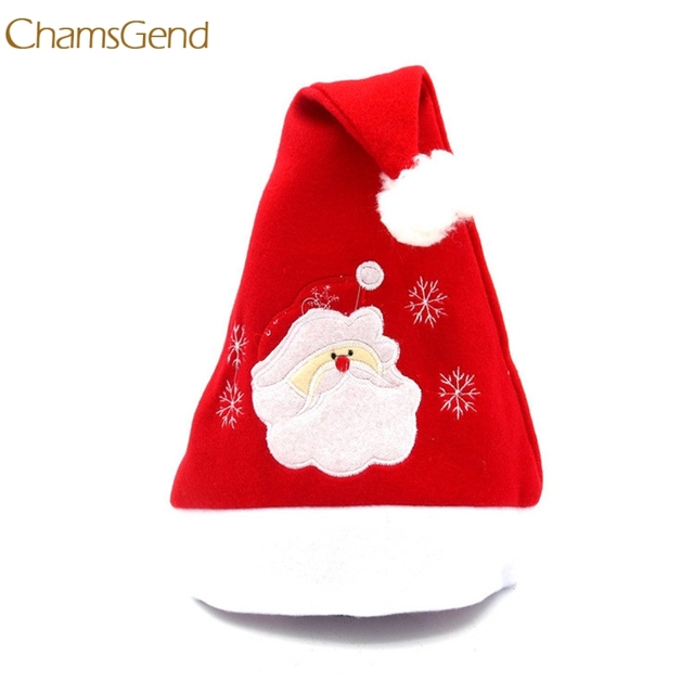 fde55878c05a7 2018 Hot Sale Christmas Party Santa Hat Red And Blue Cap for Santa Claus  Costume New Dropship 170929