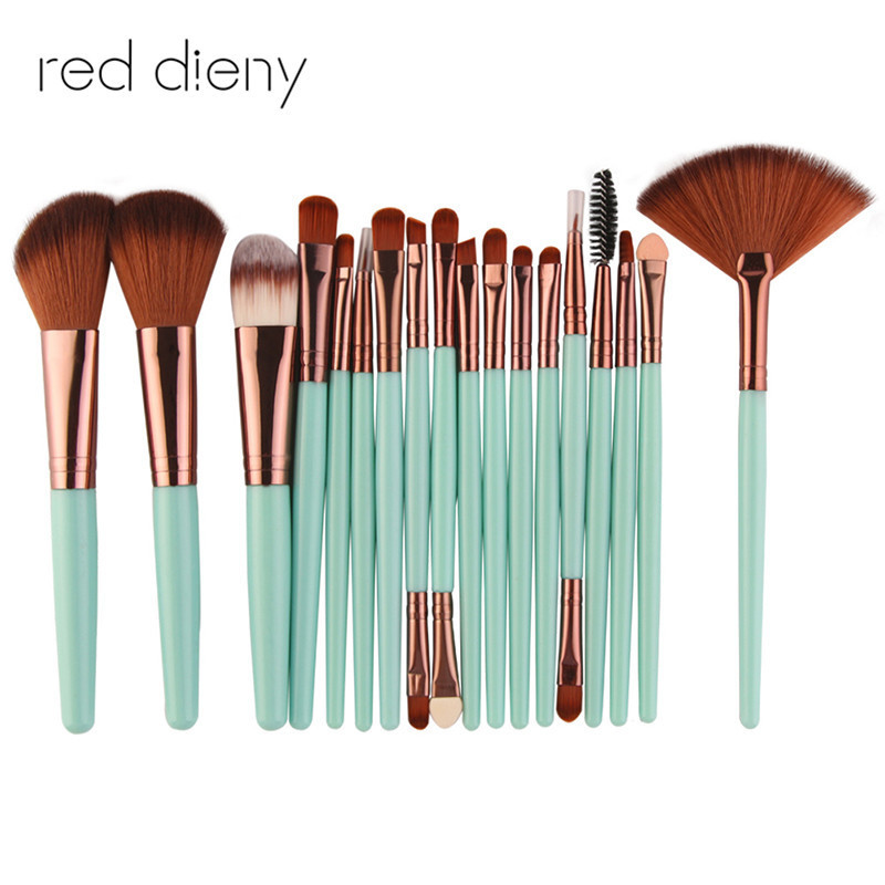 Professional 18Pcs/set Makeup Brushes Tools Kit Power Foundation Blush Eye Shadow Blending Fan Cosmetic Beauty Makeup Brush Set кисть tony moly professional blending shadow brush 1 шт