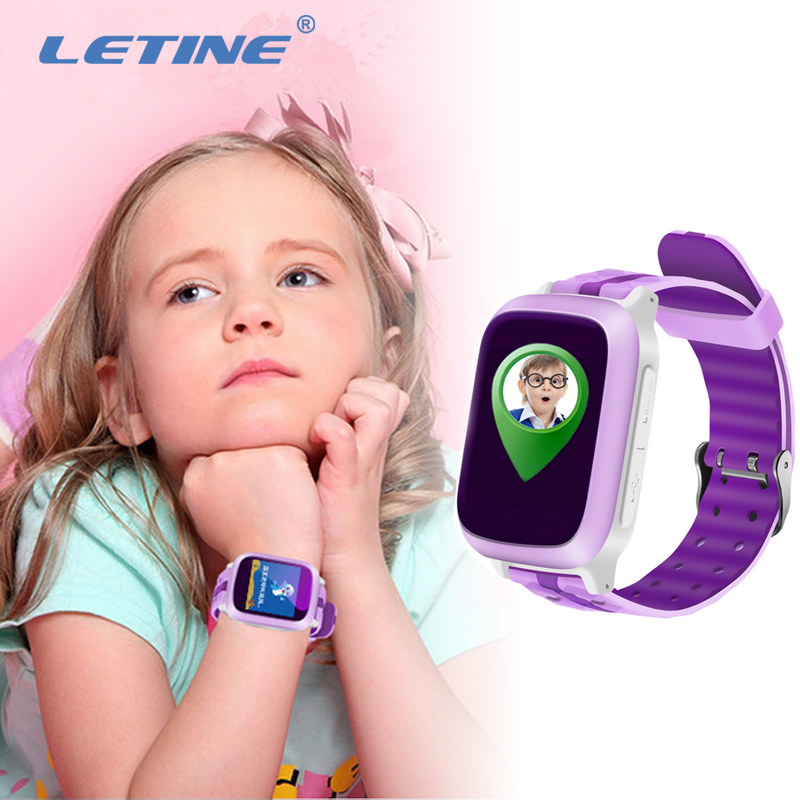 Letine DS18 Smart Phone Watch Baby's Clock with Sim Card and Gps Tracker Cell Phone Russian Function for Children Kids PK Q528