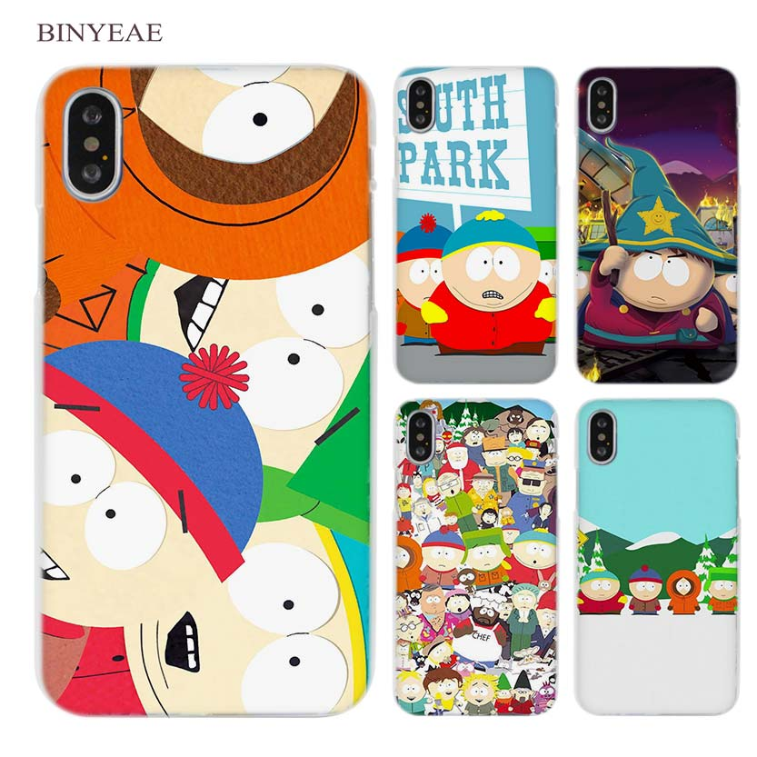 7981e2349 BINYEAE South Park Clear Cell Phone Case Cover for Apple iPhone X 6 6s 7 8