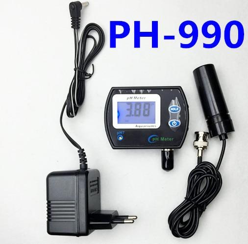 Digital PH meter PH-990 Water pool quality acidity tester  pH range 0.00-14.00 large screen backlight display with adaptor portable ph meter water quality meter digital ph tester with measuring range 0 14