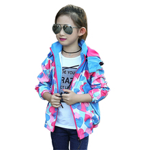 Tribros Autumn Winter Style Girls Kids Printed Hooded Casual Sport Jacket Feminine Children's Fashion Zipper Coat Jackets