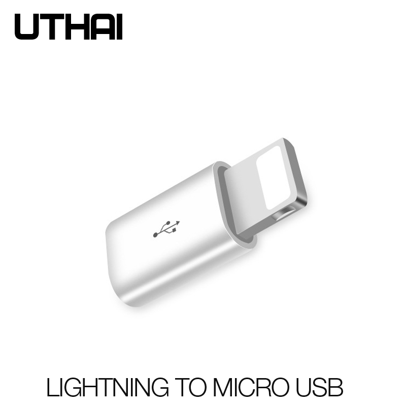 UTHAI C29 Mini Micro USB To Lighting 8 Pin OTG Adapter  For Iphone 11 X XS XR 6 7 8 Plus Sync Charger Otg Converter