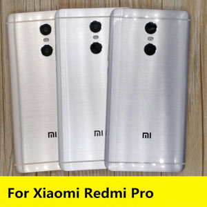 Image 1 - New For Redmi pro Spare Parts Free Shipping Back Battery Cover Door Housing+Side Buttons+Camera Flash Lens  For Xiaomi Redmi Pro