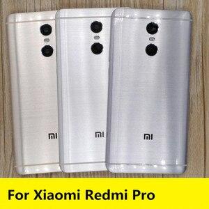 Image 1 - Repuestos profesionales para Redmi, carcasa trasera para batería, botones laterales, lente Flash de cámara para Xiaomi Redmi pro