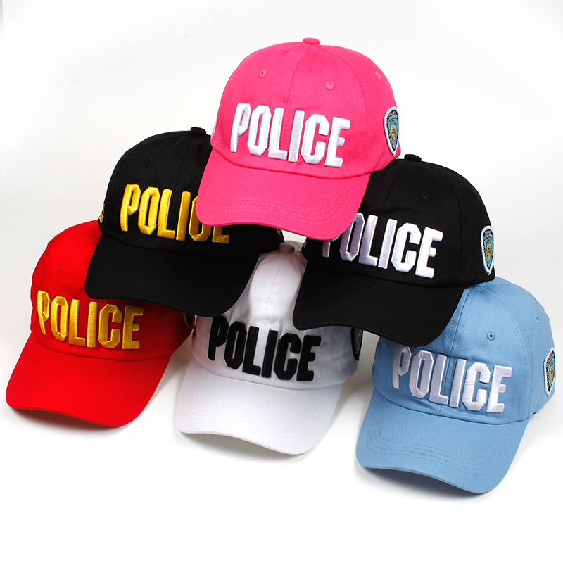 NEW Brand Novelty Fashion Letter POLICE Men   Caps   Casual Cotton   Baseball     Cap   For Women Summer Snapback Hats High Quality Bone