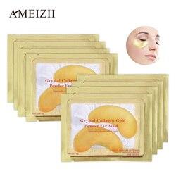 Ameizii 2 шт. = 1 упаковка Кристалл Коллаген Золотая маска для глаз Антивозрастной уход за лицом патчи для сна глаз устраняет темные круги тонкие ...