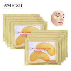 Ameizii 2Pcs=1Pack Crystal Collagen Golden Eye Mask Anti-Aging Face Care Sleeping Eye Patches Eliminates Dark Circles Fine Lines