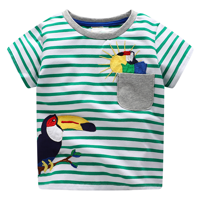 Boys Short Sleeve T shirts Children Clothing 2018 Brand Baby Boy Summer Tops&Tees Kids T-shirt Fille Animal Pattern Boys Clothes цена