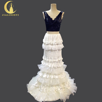 Rhine 100% Real Picture Sexy Two Pieces Black and Ivory Mermaid Fashion New Arrival Dress for Party Formal Dress Evening Dress