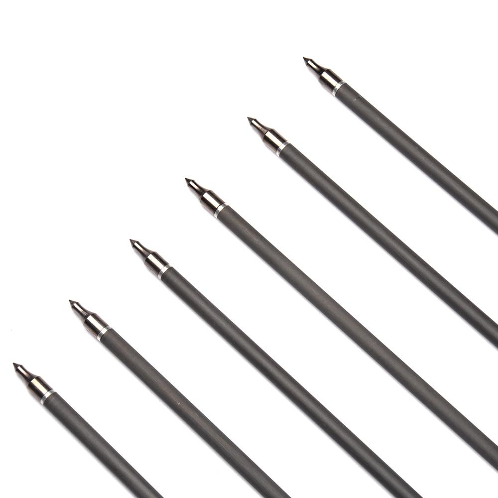 6/12 / 24pcs 31 pulgadas Spine 340 flechas de carbono con 2 plumas - Caza - foto 6