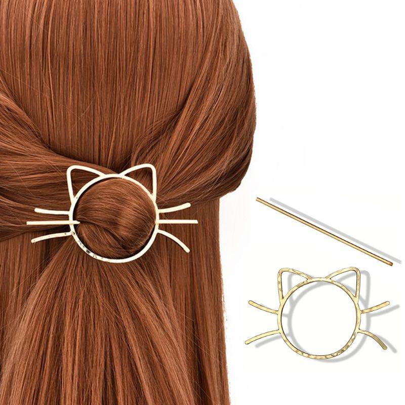 Cute Cat Hairpin 1