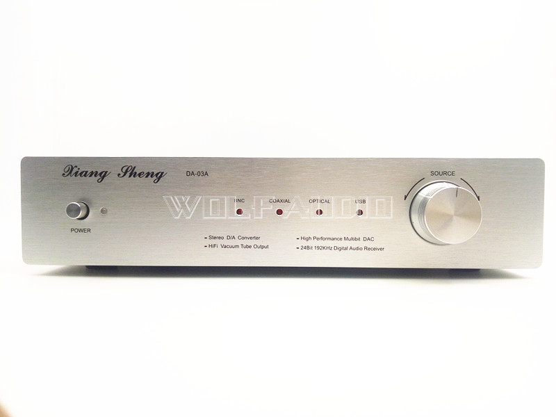 Finished HIFI BNC Coaxial Optical USB DAC03A Electron Tube Digital Audio Decoder