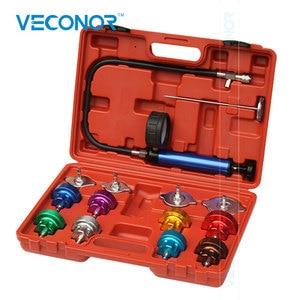 Image 1 - Veconor 14 pcs 물 탱크 누출 감지기 테스터 자동차 물 탱크 누출 압력 감지기 라디에이터 압력 테스트 도구 세트 키트