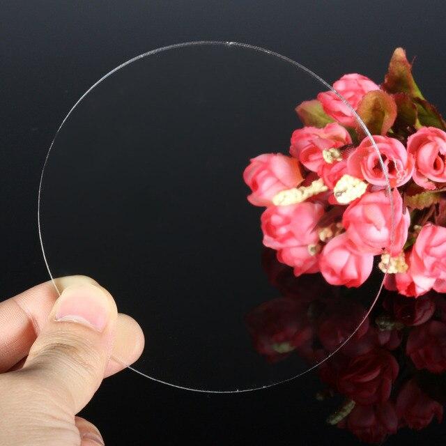 Pendientes circulares de acrílico extruido transparente de 3mm con agujero, cuentas de discos de acrílico, plexiglás para marcos de fotos, soportes para CD para manualidades DIY