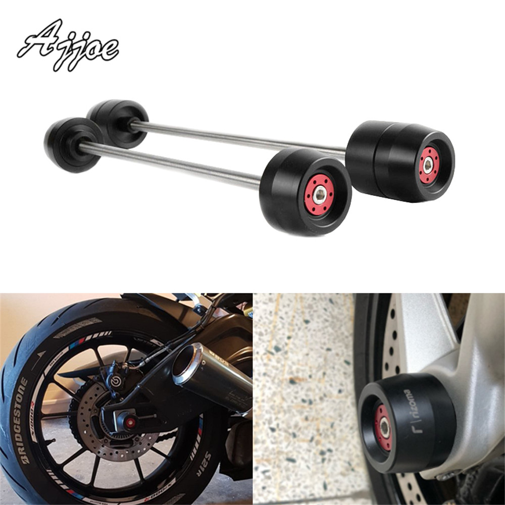 For BMW S1000RR 2009-2018 Motorcycle Front & Rear Axle Fork Crash Sliders Wheel Protector Falling ProtectionFor BMW S1000RR 2009-2018 Motorcycle Front & Rear Axle Fork Crash Sliders Wheel Protector Falling Protection