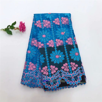 African lace fabric High quality embroidery french net lace Fashion design swiss voile lace  TL1004