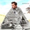 New Outdoor Water Proof Emergency Survival Rescue Blanket Foil Thermal Space First Aid Sliver Rescue Curtain Military Blanket