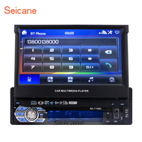Seicane 1 Din 7 inch Universal Car Radio GPS Navigation Support DVD Player Canbus AUX Bluetooth