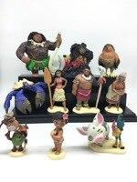 10 Ocean romance Moana Mona Princess Moana Pet Pig Cock Half God Maui Handmade toys for children Gift toys hobbies