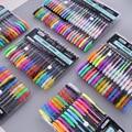 48 Colors Gel Pen Coloring Set Unique Glitter Neon Metallic Pastel Colors for Adult Coloring Books Drawing Doodling Art Markers
