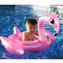 Child Inflatable Flamingo Unicorn Swimming Circle with Seat Kid Swim Ring inflatable Baby boat lifebuoy Floating Water Toys
